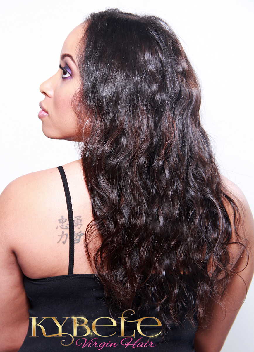 Oshun Wave Virgin Peruvian Hair Extensions Side