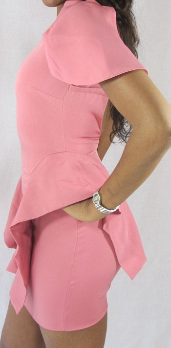 Carolyn Dress in Baby Pink Side 2