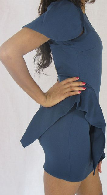 Carolyn Dress in Blue Side