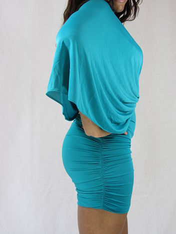 Celebrity Dress in Teal Side