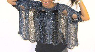 Kayla Mess Top in Metal Color Front 2 from Kybele Virgin Hair