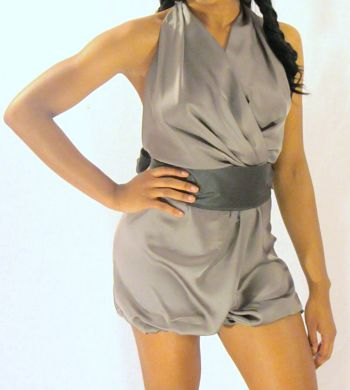 Charcoal Romper Front