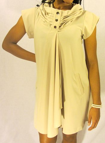 Tan Trendy Dress Front
