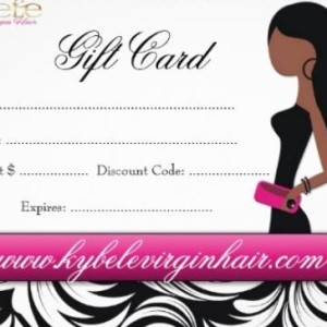 Kybele Virgin Hair Products Gift Cards 2