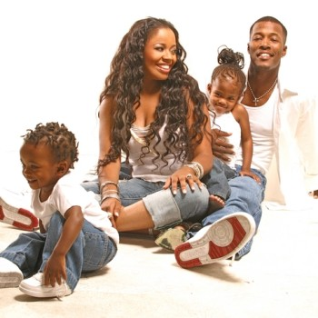 Flex and Shanice with Their Two Kids