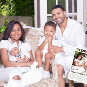 Phaedra And Apollo in a Family Photo Showing Off Son and New Baby