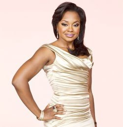 Phaedra Looks Fabulous with Virgin Hair Weave Swooped to the Side