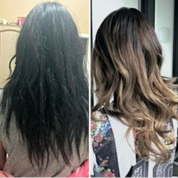 A Before and After Look at a Balayage Ombre Job